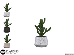 Sims 4 — Platinum Cactus by wondymoon — - Platinum Bathroom - Cactus - Wondymoon|TSR - Creations'2018