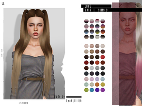 Sims 3 — LeahLillith Love Hair by Leah_Lillith — Love Hair All LODs Smooth bones Hope you will enjoy^^