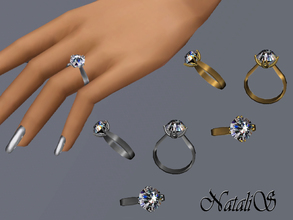 Sims 3 — NataliS TS3 Round solitaire diamond ring by Natalis — Round solitaire diamond ring. FT-FA-FE