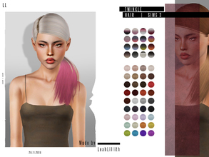 Sims 3 — LeahLillith Twinkle Hair  by Leah_Lillith — Twinkle Hair All LODs Smooth bones hope you will enjoy^^