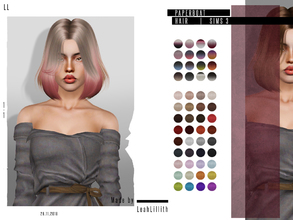 Sims 3 — LeahLillith Paperboat Hair by Leah_Lillith — Paperboat Hair All LODs Smooth bones hope you wil enjoy^^