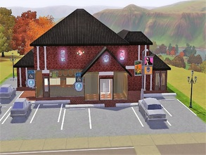 Sims 3 — Barnes And Simple Books by laughingcrow2 — Coffee shop/ bookstore. Coffee shop on the lower level can serve at