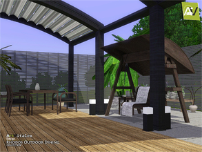Sims 3 — Rhodos Outdoor Dining by ArtVitalex — - Rhodos Outdoor Dining - ArtVitalex@TSR, Dec 2018 - All objects are