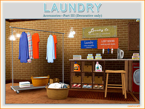 Sims 3 — Laundry Part III by Cashcraft — Modern Laundry Part III includes 10 new objects for your laundry room, which are