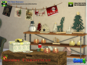 Sims 4 — kardofe_Merry Christmas by kardofe — Set of decorative objects related to Christmas, with which you can create a