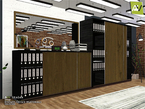 Sims 3 — Drewes Office Materials by ArtVitalex — - Drewes Office Materials - ArtVitalex@TSR, Dec 2018 - All objects are