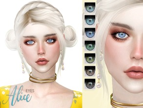 Sims 4 — [ Alice ] - Eyes by Screaming_Mustard — A new eye mask. For males and females, toddler +. With custom thumb