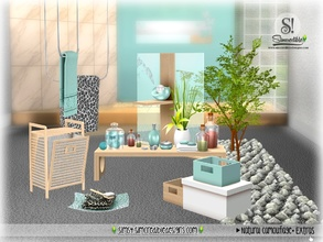 Sims 4 — Natural Camouflage Decor by SIMcredible! — Bringing for your sims bathrooms some living touch clutter, enhanced