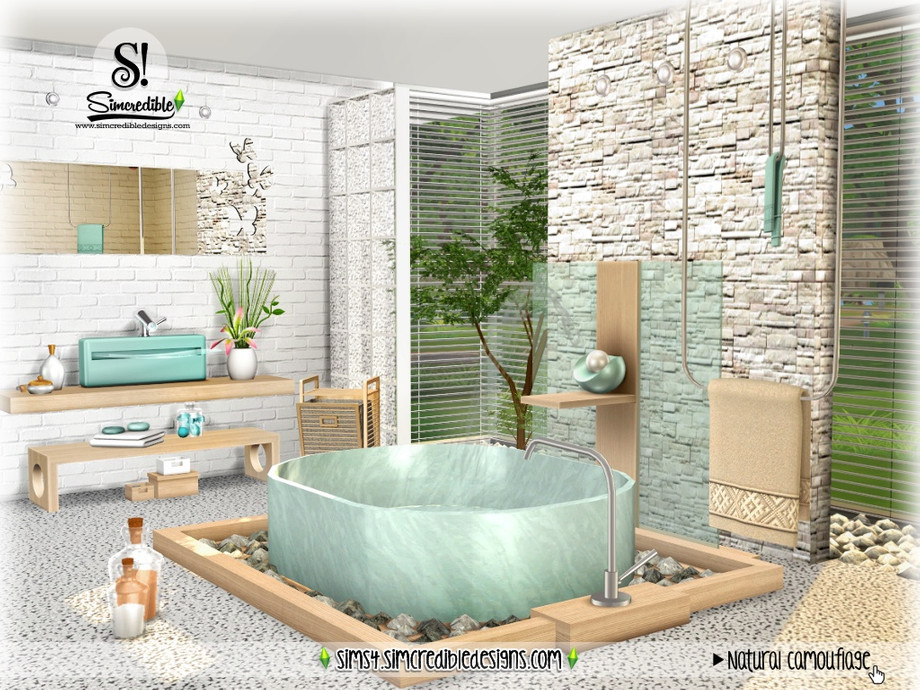 Simcredible S Natural Camouflage, Camouflage Bathroom Sets