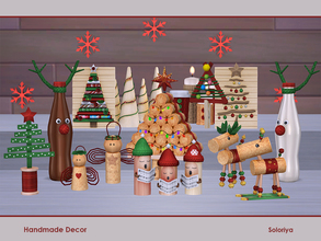Sims 4 — Handmade Decor by soloriya — Decorative handmade set for winter holidays. Includes 13 objects, category:
