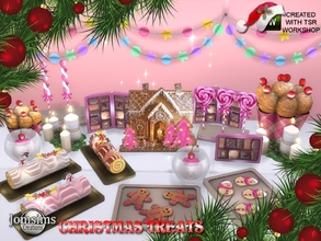 Sims 4 — Christmas treats 2018 by jomsims — Christmas treats 2018. I could not spend Christmas without offering you a set