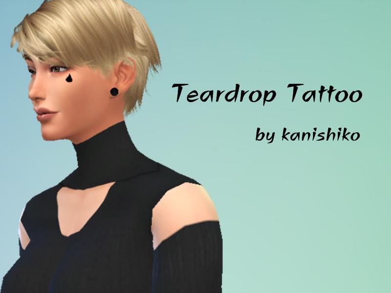 Drawntothehorizons Teardrop Tattoo