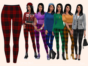 Sims 4 — TartanPants by Paogae — Nice pants with tartan pattern in six colors, to be matched in many ways and in every