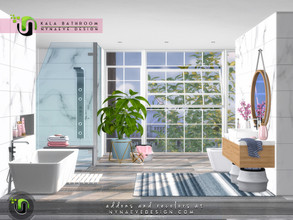 Sims 4 — Kala Bathroom by NynaeveDesign — Take all the things your sim loves about a spa and bring them home to create a