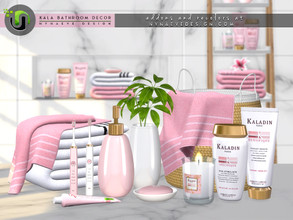 Sims 4 — Kala Bathroom Decor by NynaeveDesign — Create a relaxing mood in your sims' bathroom with plush towels and
