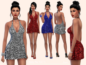 Sims 4 — HappyNewYear! 3 by Paogae — Short dress, really shiny, three colors, perfect for New Year's Eve .. and always!