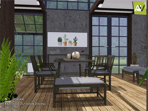 Sims 3 — Brassard Outdoor Dining by ArtVitalex — - Brassard Outdoor Dining - ArtVitalex@TSR, Dec 2018 - All objects are