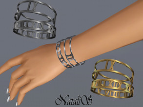 Sims 3 — NataliS TS3 Roman numeral bracelet  by Natalis — Roman numeral bracelets. FT-FA-FE.