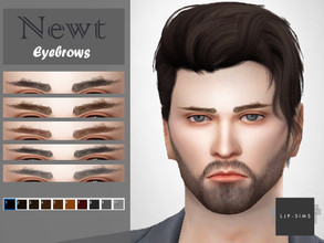 Sims 4 — Newt Eyebrows. by LJP-Sims — -HQ Texture Support -With 10 Colours Note -Skin By S-Club -Hair By Wingssims