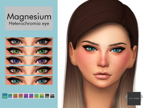 Sims 4 — Magnesium Heterochromia Eye by LJP-Sims — -HQ Texture Support -Adult Unisex -Cas Categories Earring Notes -skin