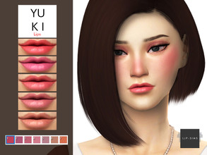 Sims 4 — Yuki Lips by LJP-Sims — -HQ Texture Support -With 7 Colours -With Custom Thumbnail -For Female Only Notes -Skin