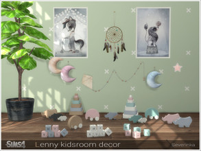 Sims 4 — Lenny kidsroom decor by Severinka_ — A set of decor and toys for the decoration of the children's room The set