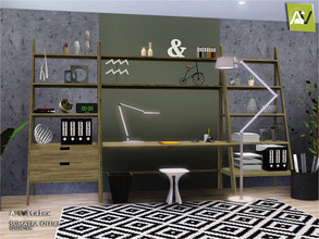 Sims 3 — Sumatra Office by ArtVitalex — - Sumatra Office - ArtVitalex@TSR, Jan 2019 - All objects are recolorable -