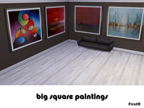 Sims 4 — Set of Big Paintings by FirstR2 — Set of big Paintings for your Sims. Mesh included