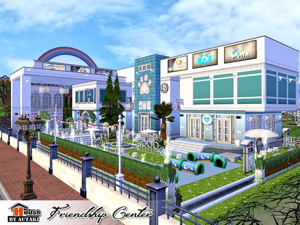 Friendship Center NoCC The Sims 4 Lote Comunitário