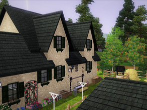 Sims 3 — The Rose Sorbier by sgK452 — Small house a couple with children attic rooms, all comfort. Dog cat horses Mainly