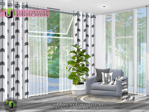 Sims 4 — Lyne Curtains I - Short Walls by NynaeveDesign — Control the amount of privacy your sims want and enhance their