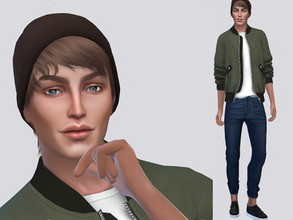 Sims 4 — Jorden Hanson by MSQSIMS — Jorden Hanson is a Teenager who loves the city life. He is cheerful and loves sport.