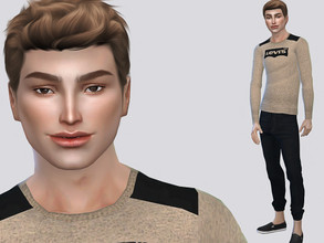 Sims 4 — Jean Ames by MSQSIMS — Jean Ames is a Teenager who wants to become a joke star. He is playful and cheerful. *