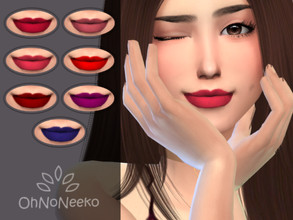 Sims 4 — ONN Nicky Liquid Lipstick by OhNoNeeko —