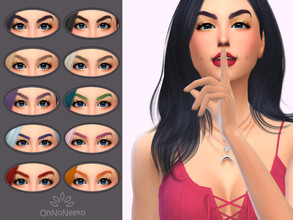 Sims 4 — ONN Irelia Brows by OhNoNeeko — 3D mesh Custom tumbnail 10 Color options Cartoon Inspired by Irelia from League
