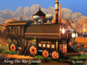 Sims 4 — Along The Rio Grande by dasie22 — ALONG THE RIO GRANDE is a small railway station with a locomotive, and it is a