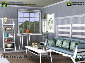 Sims 3 — kardofe_Natura Room_ by kardofe — Living room formed by natural wood furniture, with tapestries of fresh and