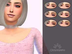Sims 4 — ONN Tessa Eyes by OhNoNeeko — 3D mesh Custom tumbnail 6 Color options Lenses