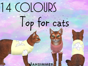 Sims 4 — Top for cats - JahSimmer by JahSimmer — This is for cats. It's a really cute top with the fishes
