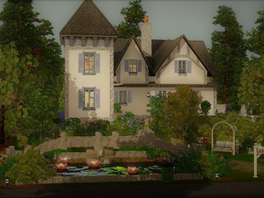 Sims 3 — La Fontaine no cc by sgK452 — Beautiful mansion, without CC. Ideal for a couple with child and or baby. Upstairs