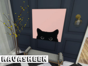 Sims 4 — All Cats Canvas by RAVASHEEN — In ancient times cats were worshiped as gods; they have not forgotten this.