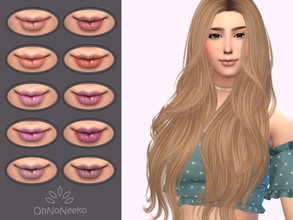Sims 4 — ONN Misty Lipgloss by OhNoNeeko — Misty Lipstick 3D Mesh Custom tumbnail 10 Color options Please check out my