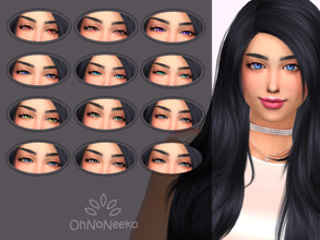 Sims 4 — ONN Renga Eyes by OhNoNeeko — Renga Eyes 3D Mesh Custom tumbnail 12 Color options Lenses Please check out my