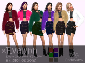 Sims 4 — ONN KDA Evelynn Skirt - Cool Kitchen needed by OhNoNeeko — KDA Evelynn Skirt Cool Kitchen needed 3D Mesh Custom