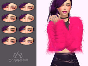 Sims 4 — ONN KDA Evelynn Eyes by OhNoNeeko — KDA Evelynn Eyes 3D Mesh Custom tumbnail 8 Color options Lenses Inspired by