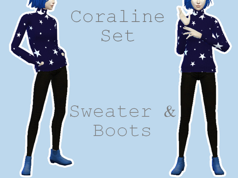 Heyitssmile S Smile Coraline Sweater And Boot Set