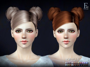 Sims 3 — sclub ts3 hair double-buns n42 by S-Club — Hi everyone! Here is my n42 hair for TS3 too! You can find the hair
