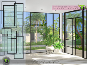Sims 4 — Lyne Build Set III - Tall Walls by NynaeveDesign — Enjoy the enhanced daylight with these massive yet elegant