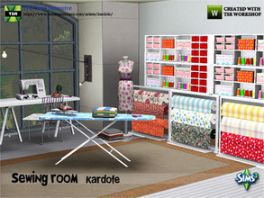 Sims 3 — kardofe_Sewing room by kardofe — Eleven new meshes to recreate a sewing room