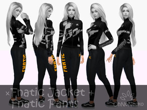 Sims 4 — ONN Fnatic Sweat Pants by OhNoNeeko — Fnatic Sweat Pants 3D Mesh Custom tumbnail Inspired by Fnatic merchandise